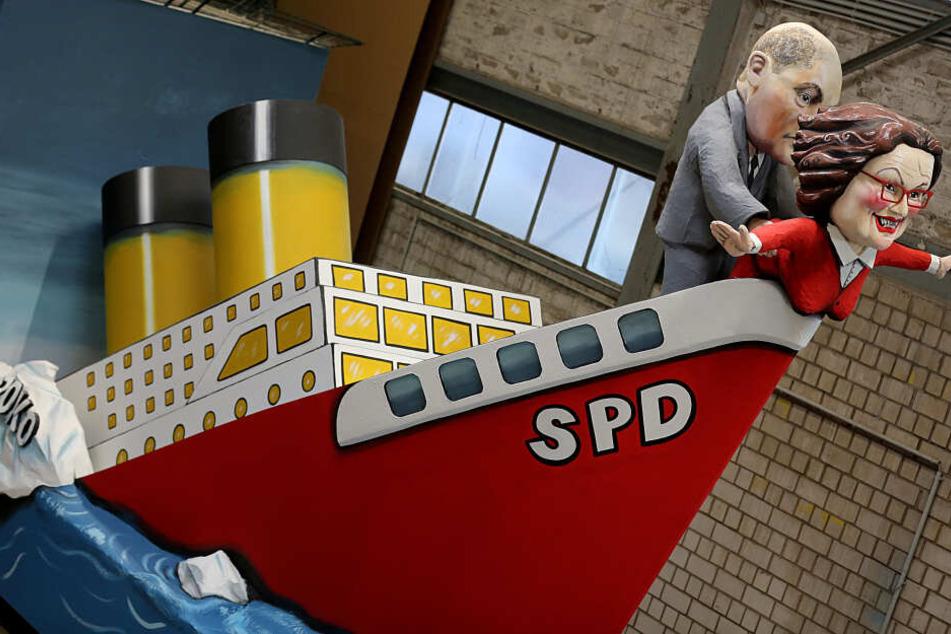 Ein Motivwagen zum Thema SPD.
