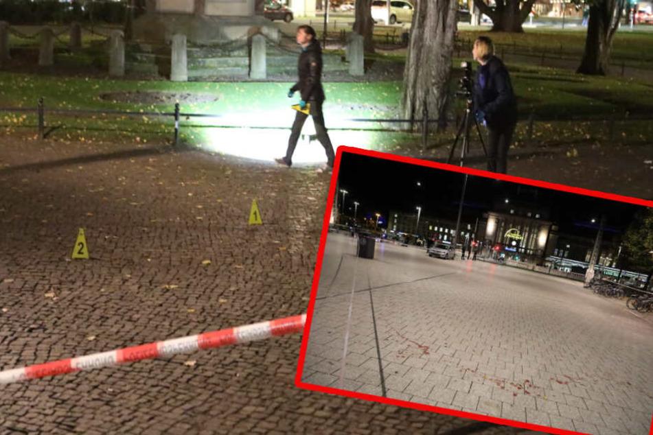 Eine mehrere Meter lange Blutspur zog sich durch den Bürgermeister-Müller-Park.