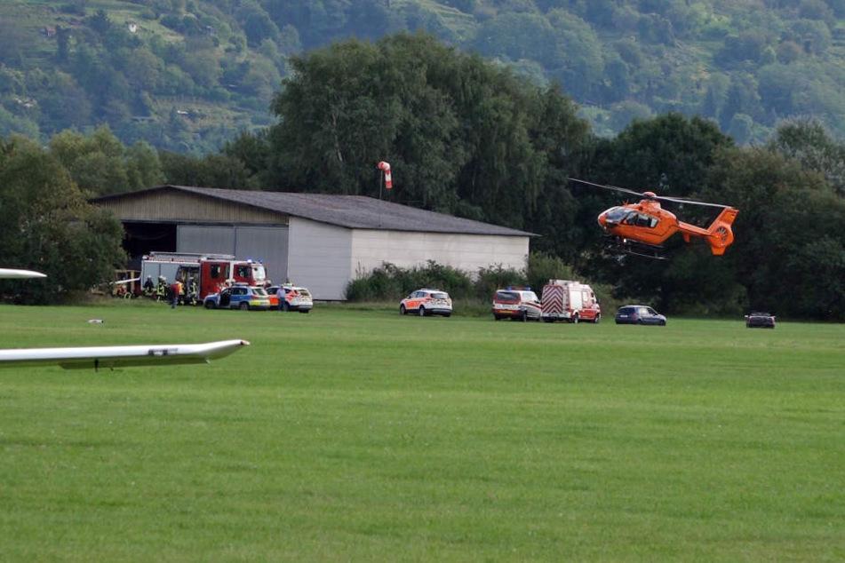 Auf einem Flugplatz in Heppenheim stürzte der junge Mann ab.