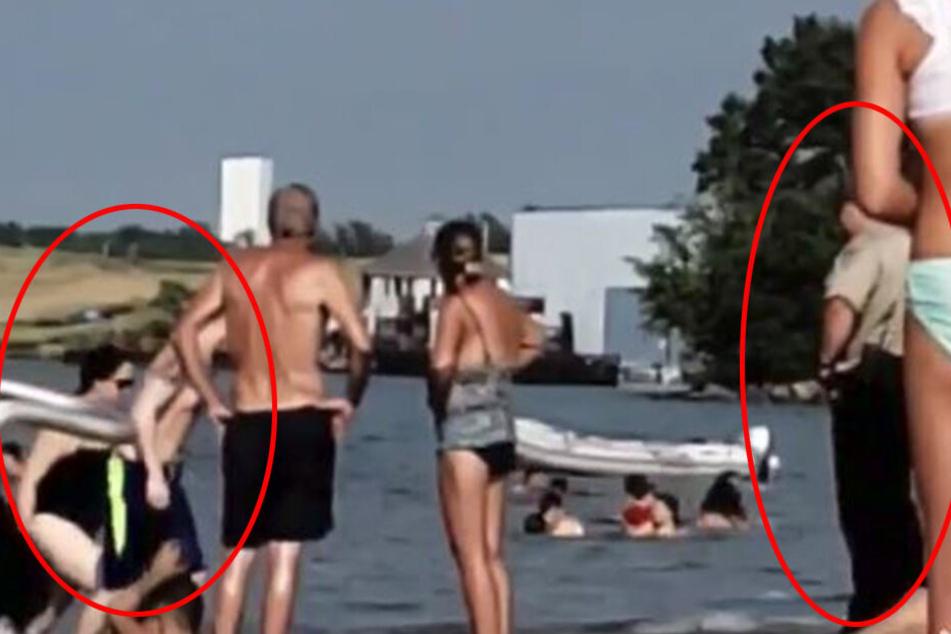 Das Paar lief dem Polizisten direkt in die Arme.