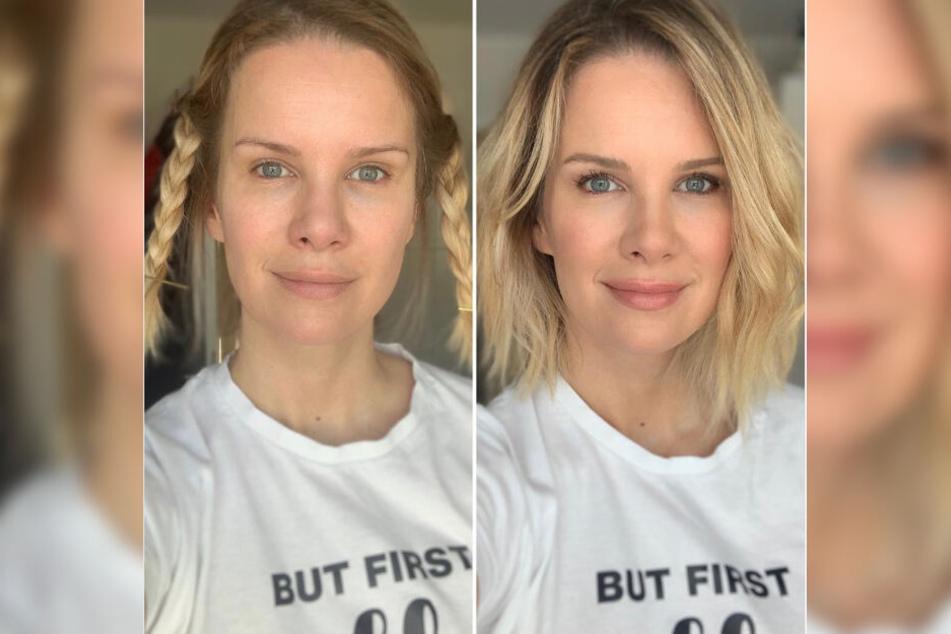 In nur 20 Minuten ist Monica Ivancans Make-up fertig und die Haare sitzen.