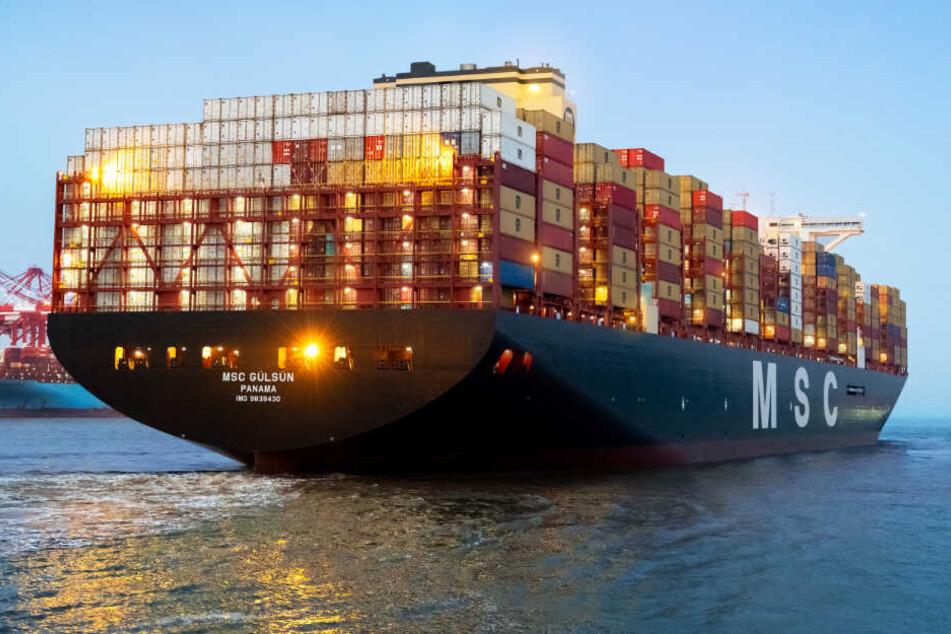 Die MSC Gülsün gilt als größtes Containerschiff der Welt.