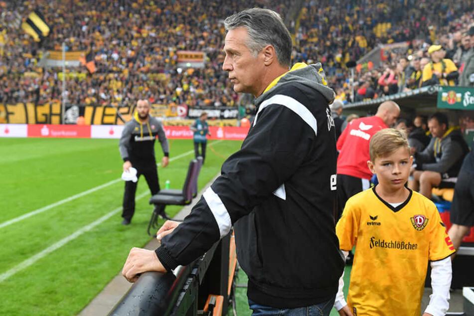 Dynamo-Trainer Uwe Neuhaus hat die Partie gegen Aue schon abgehakt und beschäftigt sich mit Lautern.