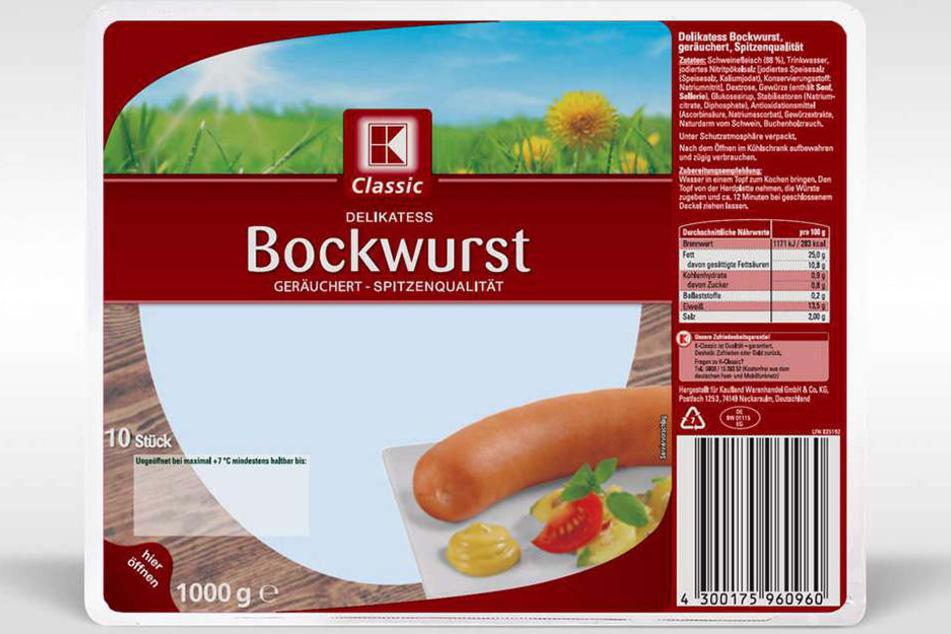 Kaufland ruft diese Bockwurst freiwillig, aus Gründen des vorbeugenden Verbraucherschutzes, zurück.