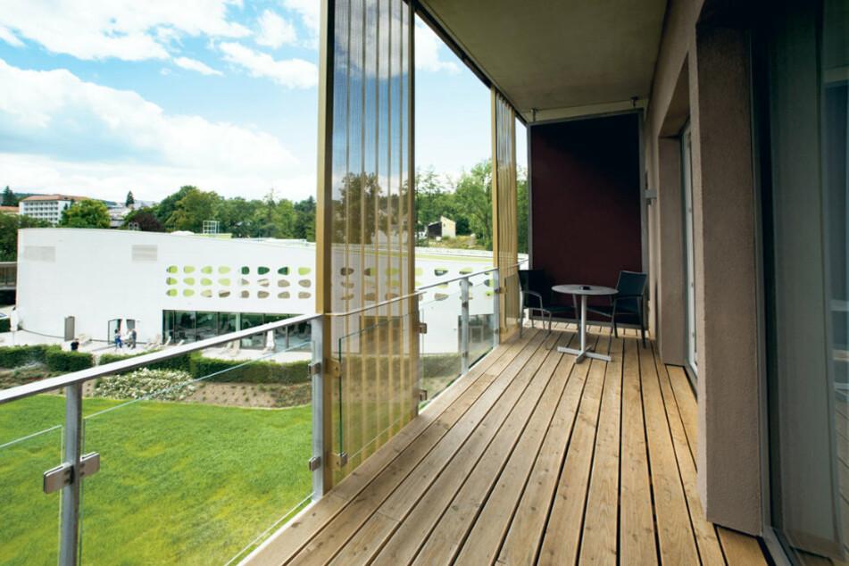 Blick aus einer Suite im Hotel König Albert in Bad Elster.