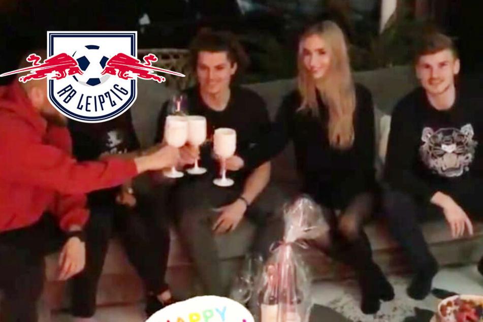 RB Leipzigs Sabitzer feiert Geburtstag, nur Timo Werner stößt nicht mit an