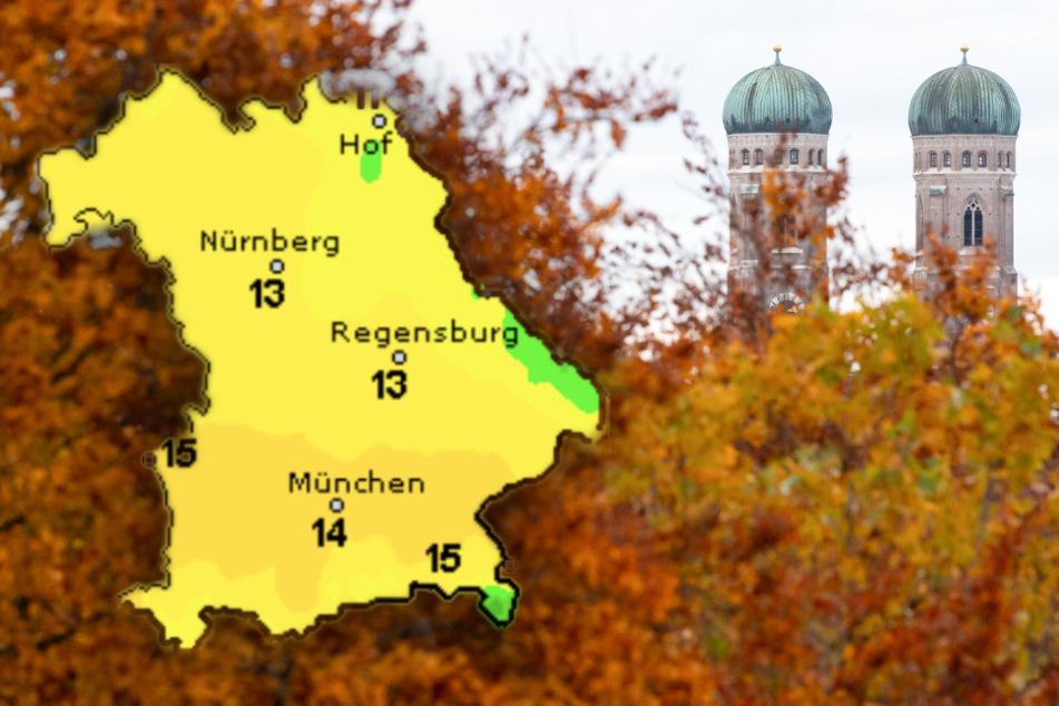 Vor einem sonnigen Wochenende, wird es regnerisch in München und Bayern. (Bildmontage)