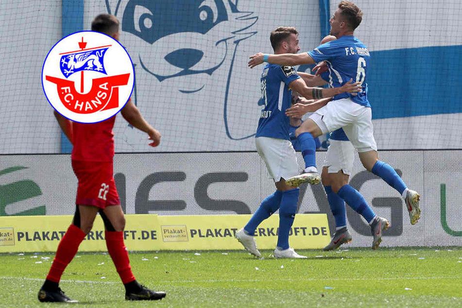 Zu früh gefreut! Hansa Rostock verspielt 3:0-Führung gegen Aufsteiger