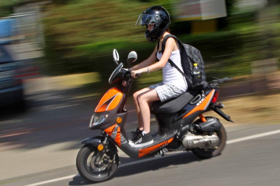 Mopedfahrer werden oft übersehen.