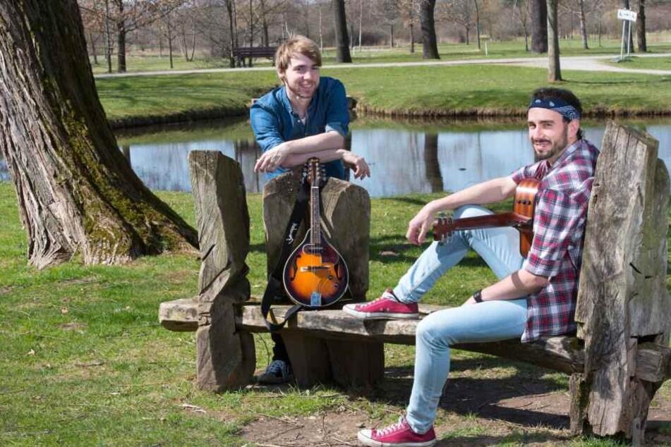 Jante spielte die neuen Songs zusammen mit Tim Bergelt (l.) ein.