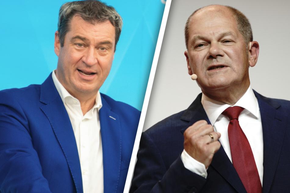 Olaf Scholz als Kanzlerkandidat: Markus Söder kritisiert Timing der SPD scharf