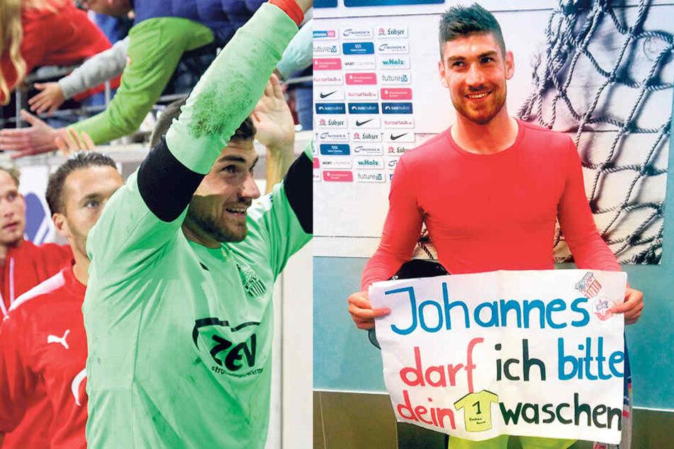 FSV-Keeper Johannes Brinkies tauschte Trikot gegen Plakat.