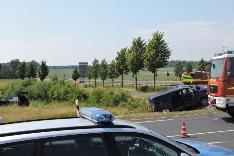 Der Mercedes Vito war in Richtung Großbardau unterwegs, als ihm der Audi die Vorfahrt schnitt.