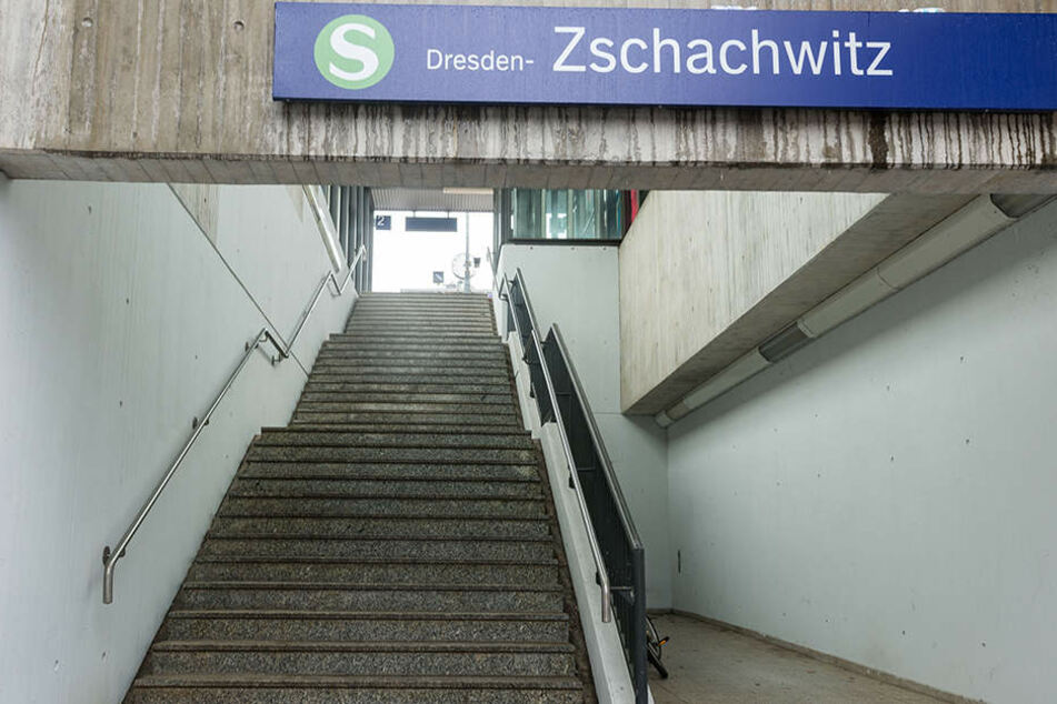 Am S-Bahnhof Dresden-Zschachwitz geschah die Tat.
