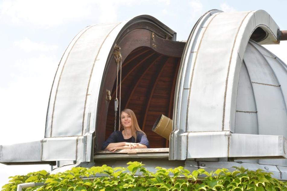 Danila Wolf (27) von der Sternwarte Radebeul empfiehlt, sich beizeiten einen geeigneten Beobachtungs-Standort auszusuchen.