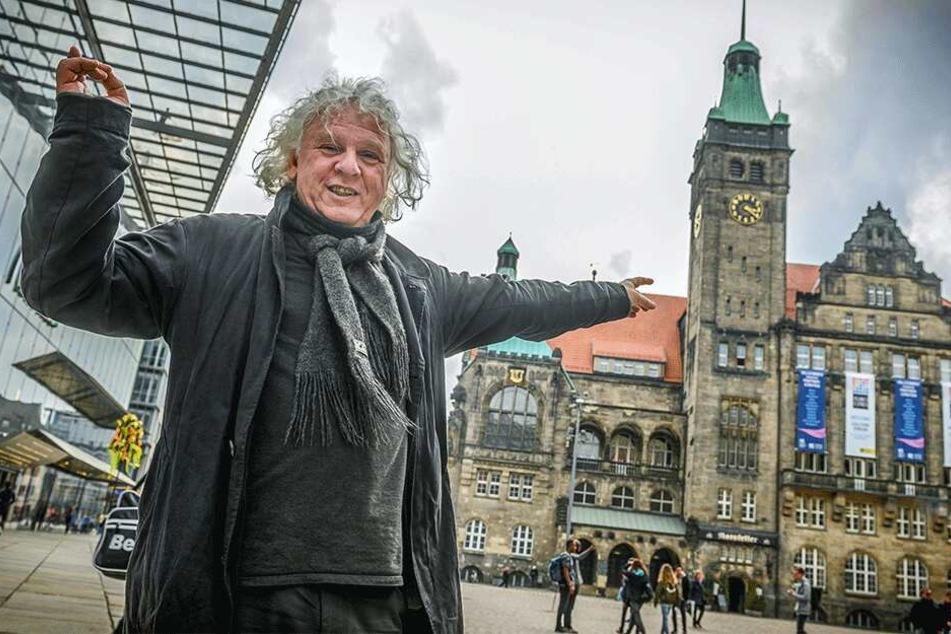 Amtsrichter Peter Selber (57, die PARTEI) will das Rathaus erobern.