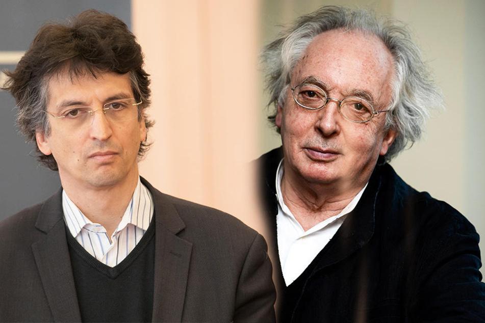 Michael Sanderling, Chefdirigent der Dresdner Philharmonie (links). Philippe Herreweghe leitet das Symphoniekonzert der Sächsischen Staatskapelle.