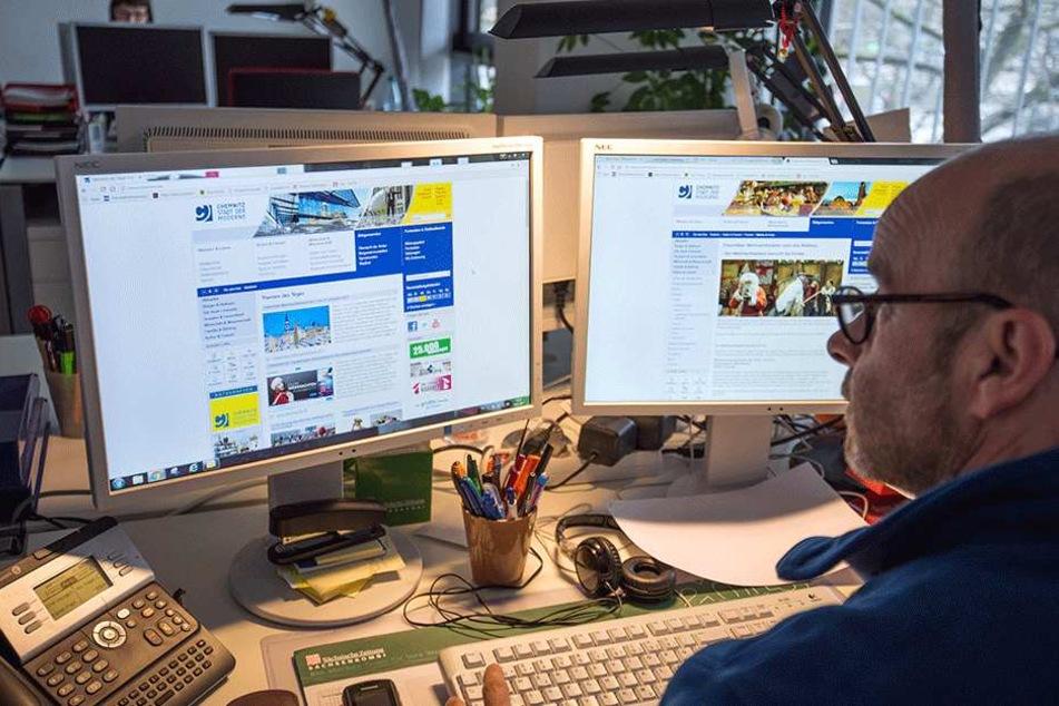 """TAG24-Redakteur Torsten Schilling (49) verabschiedet eine """"Alte Bekannte"""": Die Stadt-Homepage verschwindet Anfang 2018."""