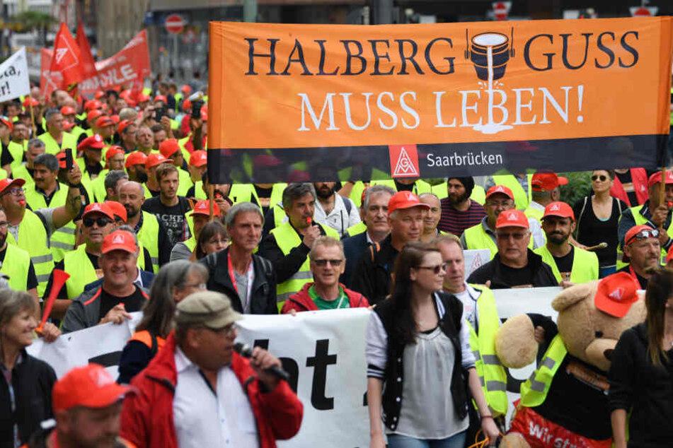 Seit dem 14. Juni streiken die Mitarbeiter der Neue Halberg Guss in Leipzig und Saarbrücken.