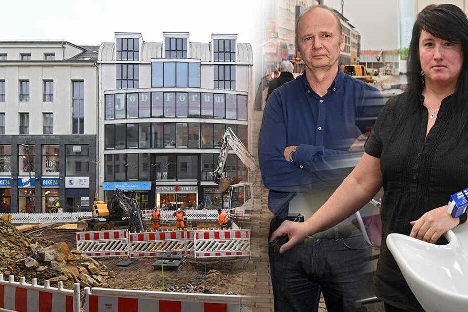 """Dresden: """"Umsatzeinbußen bis zu 70 Prozent"""": Händler schimpfen über Baustelle an der Kesselsdorfer"""
