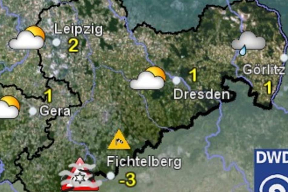 Am Sonntag wird es ungemütlich in Sachsen: Es muss mit Regen, Schnee und Frost gerechnet werden.