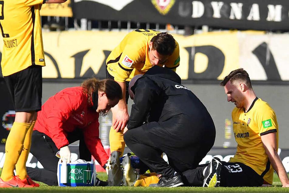 Ballas zog sich die Verletzung im Spiel zu, brachte die Partie aber noch zu Ende.