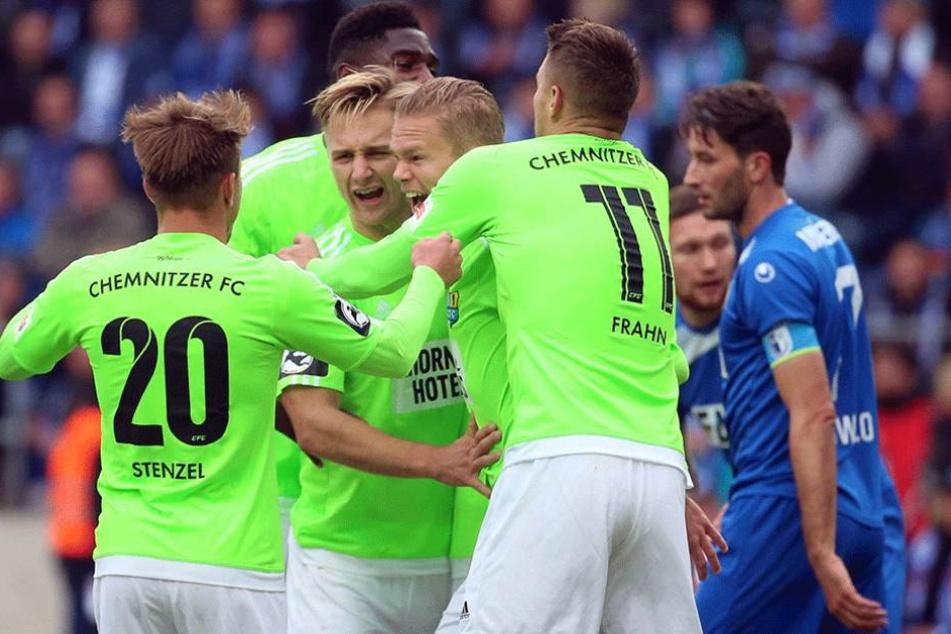 Die Chemnitzer können sich über drei wichtige Punkte gegen den 1. FC Magdeburg freuen.