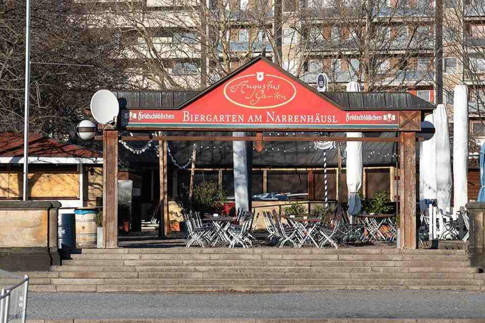 "Der ""Biergarten am Narrenhäusel"" erinnert an das Haus des einstigen Hofnarrren Fröhlich."
