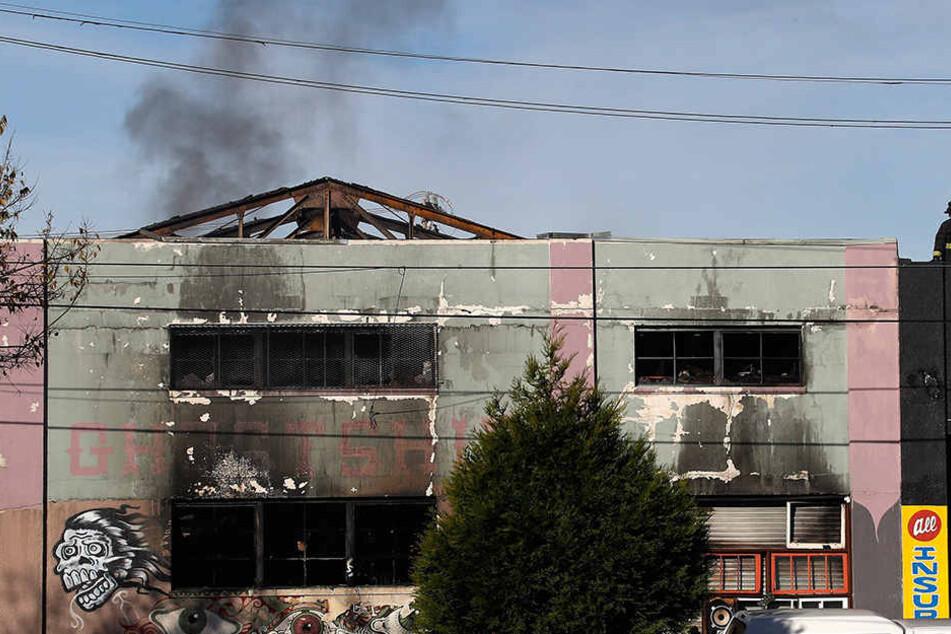"""In dem als """"Ghost Ship"""" in der Szene bekannten Halle brach das verheerende Feuer aus."""