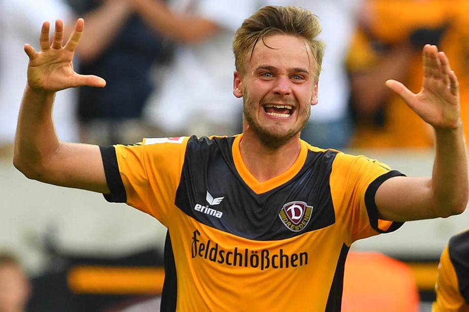 Lucas Röser will wieder Jubeln. Er hofft, dass sich das Torschuss-Training gegen Regensburg auszahlt.