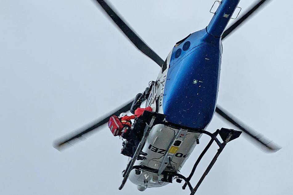 Insgesamt waren vier Hubschrauber im Zuge der Rettung am Watzmann in Bayern im Einsatz.