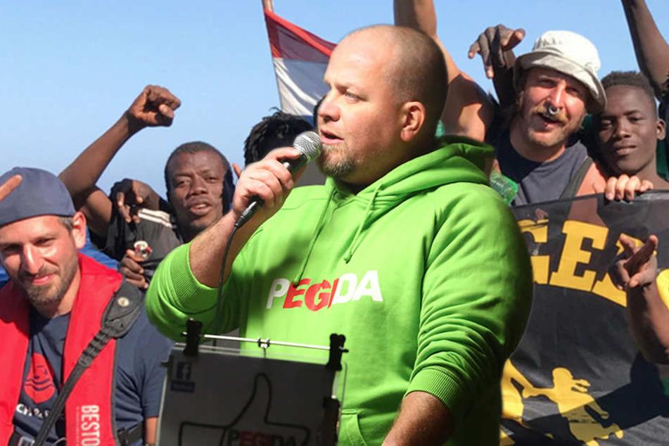 Dresdner Flüchtlingsretter zerren Pegida-Däbritz vor Gericht