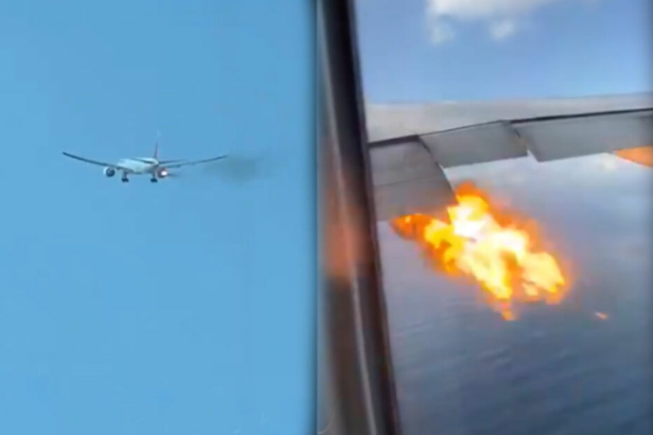 Schock in Boeing 777: Triebwerk fängt nach Start plötzlich Feuer