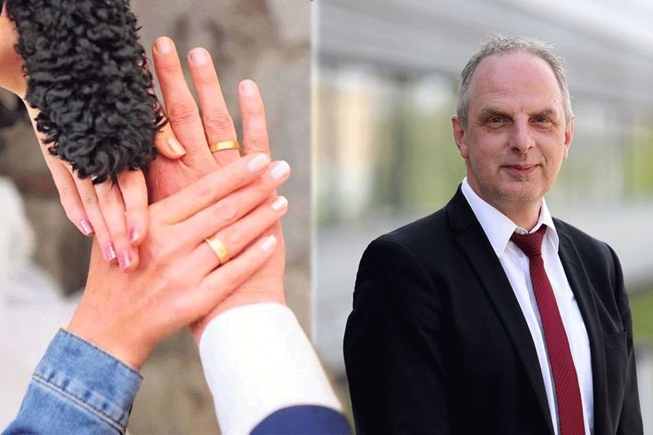 Tochter und Pudel gaben ihren Segen: SPD-Mann Müller ist unter der Haube