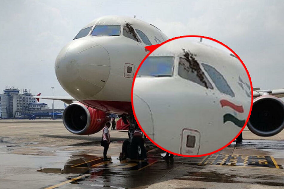 Was hängt denn da am Seitenfester dieses Flugzeugs ?