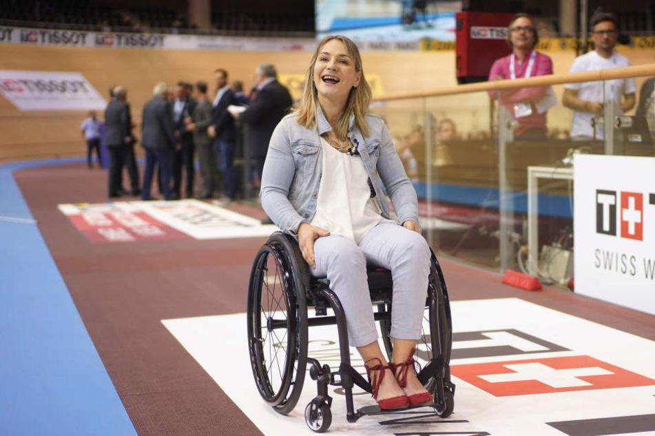 Doppel-Olympiasiegerin Kristina Vogel: Seit einem Unfall sitzt die Bahnradsportlerin im Rollstuhl.