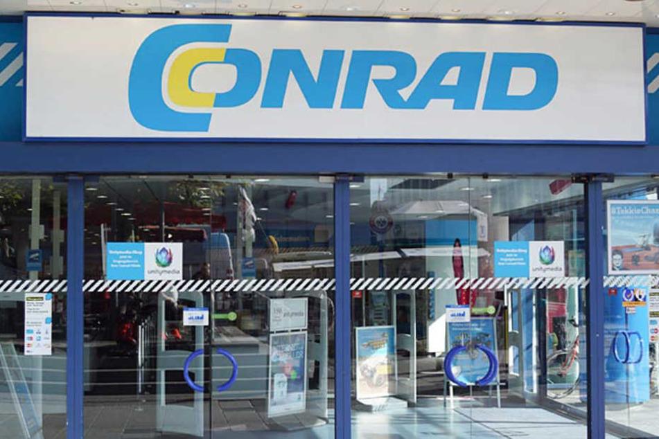 Die Conrad Filiale in Frankfurt auf der Zeil 58+64