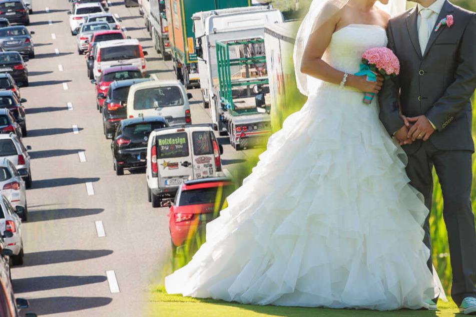 Wahnsinn auf der Autobahn: Hochzeitsgesellschaft blockiert komplette Fahrbahn