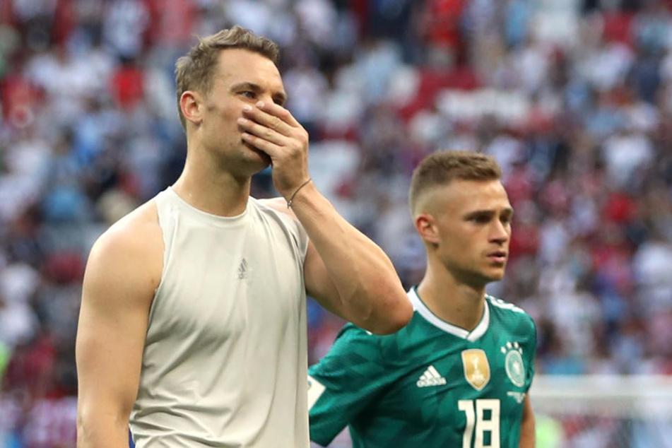 Manuel Neuer und Joshua Kimmich finden es schade, dass Mario Gomez aus der Nationalmannschaft austritt.