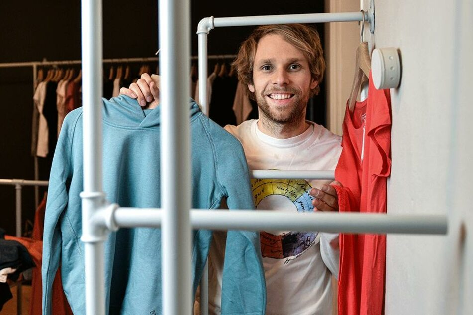 Steve Kupke (33) eröffnet Mittwoch seinen neuen Unipolar-Shop in der  Neustadt.