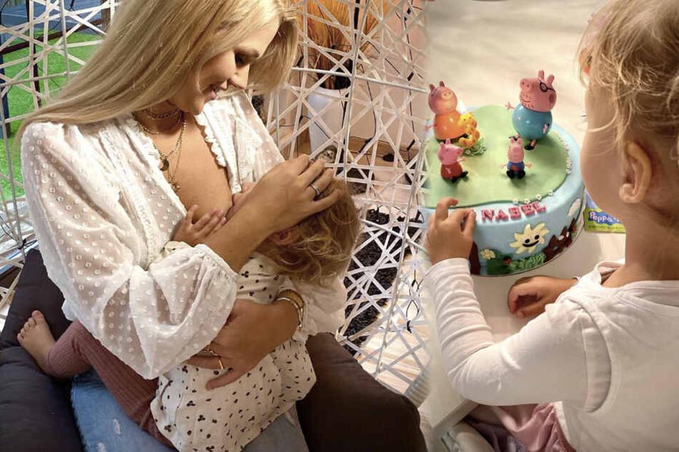 Annabell ist im November drei Jahre alt geworden und hat eine leckere Torte bekommen.