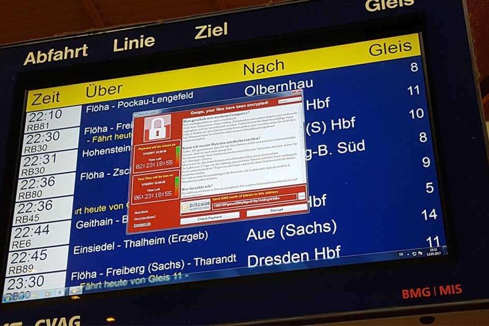 Auch der Bahnhof in Chemnitz war von Ausfällen der Anzeigetafeln betroffen.