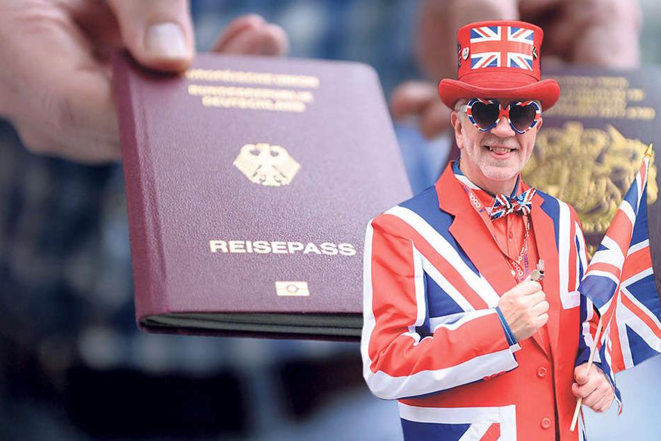 Seit dem Brexit-Beschluss gewinnt der deutsche Reisepass für Briten an Attraktivität.