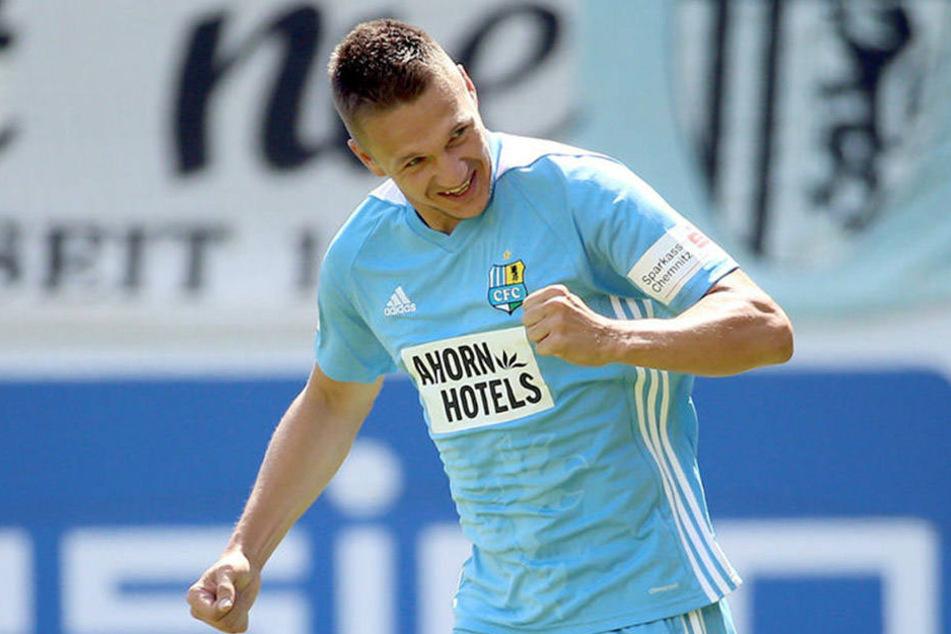 Für Daniel Frahn war der Saisonauftakt einer nach Maß. Im Derby gegen den FSV Zwickau gelang ihm das einzige und damit entscheidende Tor.