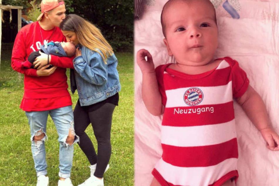 BTN-Baby Milan wird von Papa Matze zum Bayern-Fan erzogen