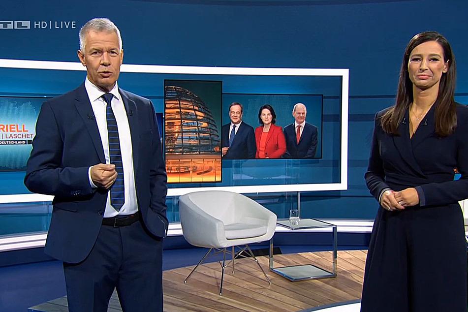 Die RTL-Moderatoren Peter Kloeppel (62) und Pinar Atalay (43) führten gemeinsam durch die Triell.