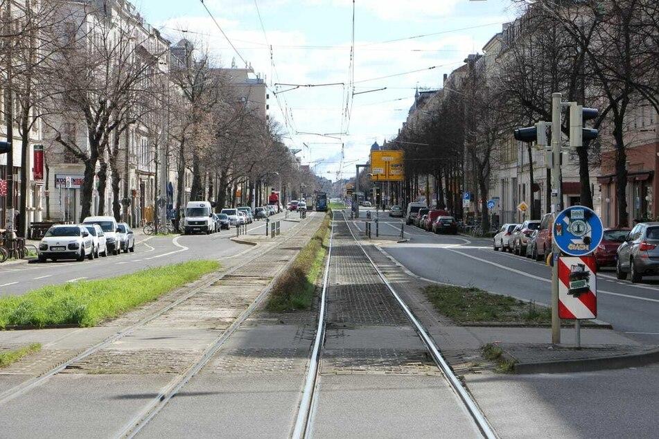 Normalerweise von Cafégängern und Passanten bevölkert: Die Karl-Liebknecht-Straße.