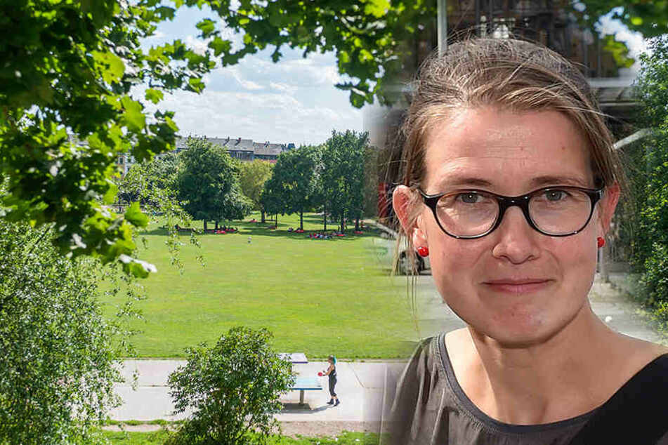 Benita Horst (FDP) fordert, dass der Alaunpark besser beleuchtet wird.