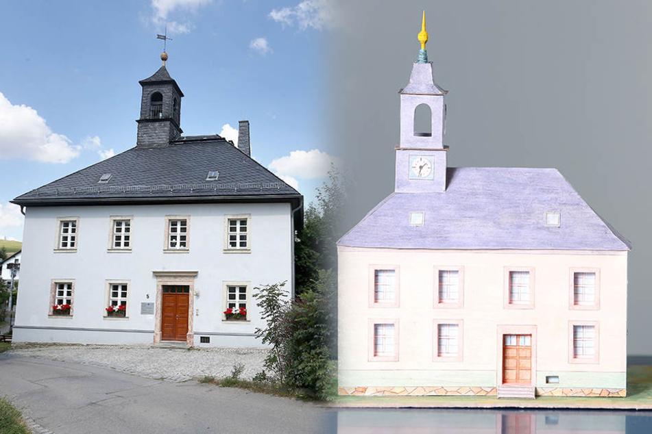 Auch das Rathaus von Kleinolbersdorf-Altenhain wirkt bescheiden und weniger pompös.