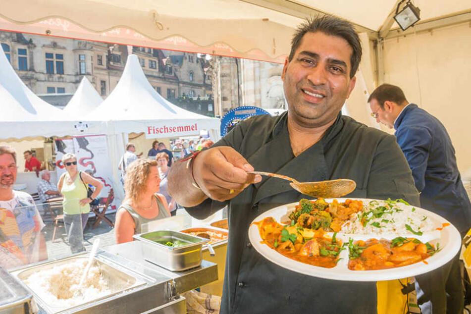Makhan Singh (39) kann es nicht scharf genug sein! Aber auch für sanfte Gemüter hat der Vegetarier einige Köstlichkeiten zu bieten.